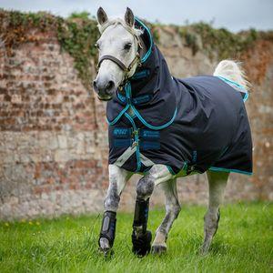 Amigo Bravo Plus 250g Pony Turnout Blanket - Navy/Electric Blue/Navy
