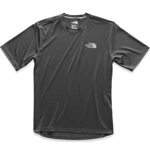The North Face Men's Short Sleeve LFC Reaxion Crew - Black/Asphalt Grey