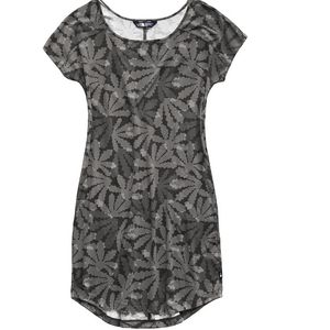 The North Face Women's Loasis Tee Dress - Asphalt Grey Multi Bt Print