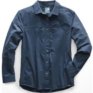 The North Face Women's Boreaz Long Sleeve Roll-Up Shirt - Blue Wing Teal