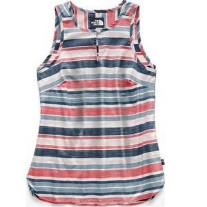 The North Face Women's Sleeveless Bayward Top - White W Variegated Stripe Print