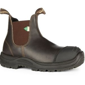 Blundstone CSA 167 - Work & Safety Rubber Toe Cap Stout Brown