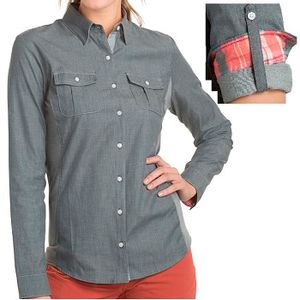 Kuhl Women's Kiley Long Sleeve Shirt - Charcoal/Daylily
