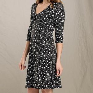 Toad & Co Women's Rosalinda Dress - Black Line Print