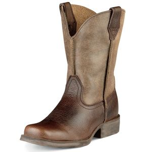 Ariat Children's Rambler Square Toe Western Boots - Earth BRown