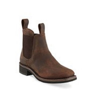 Old-West-Children-s-Leather-Square-Toe-Chelsea-Boots-105563