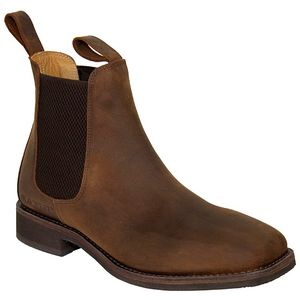 Old West Men's Leather Square Toe Chelsea Boots