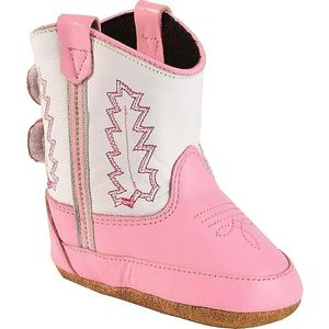 Old West Infant Poppet Cowboy Boots - Pink