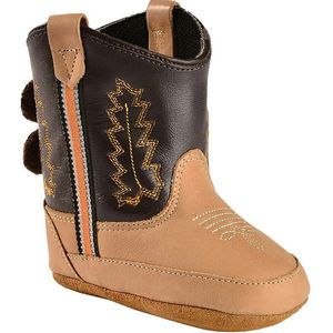 Old West Infant Poppet Cowboy Boots - Brown