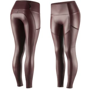 Horze Hanna Women's PU Leather Tights - Port Royal