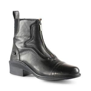 Horze Suffolk Front-Zip Paddock Boots - Black