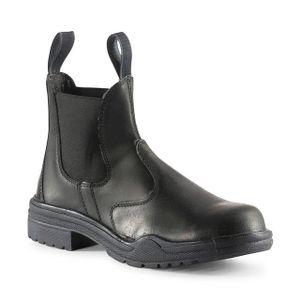 Horze Essex Steel-Cap Paddock Boots - Black