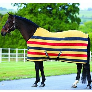 Rambo Deluxe Fleece Horse Cooler - Whitney Gold