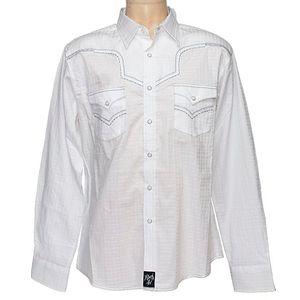 Wrangler Men's Rock 47 Modern Fit Western Shirt - White