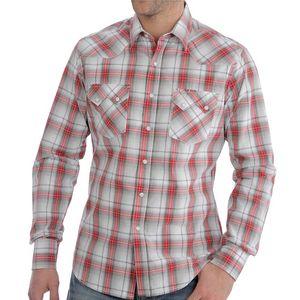 Wrangler Men's Retro Long Sleeve Modern Fit Shirt - White/Red