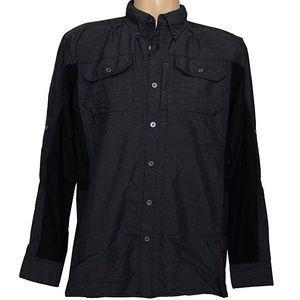 Wrangler Men's Outdoor Solid Long Sleeve Shirt - Caviar