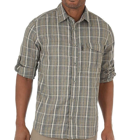 Wrangler-Men-s-Outdoor-Wicking-Plaid-Utility-Shirt----Dusky-Green-233193