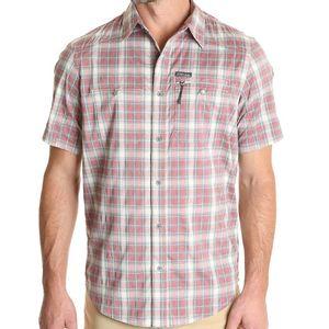 Wrangler Men's Outdoor Short Sleeve Zip Pocket Utility  Shirt - Blue Night