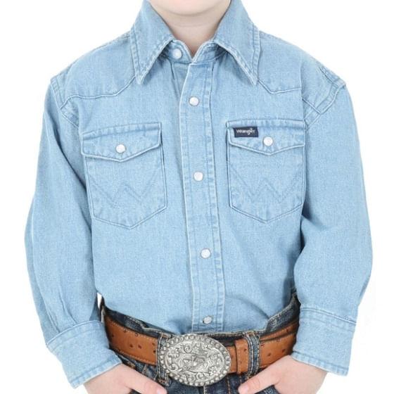 Wrangler-Boy-s-Stonewashed-Denim-Long-Sleeve-Solid-Snap-Shirt---Stonewash-233217
