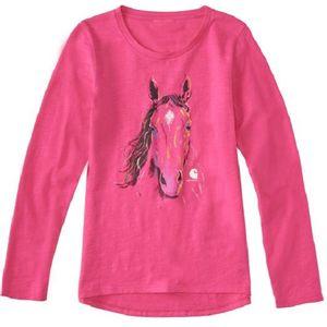 Carhartt Girls Texture Horse Long Sleeve Tee - Fuchsia