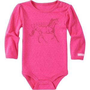 Carhartt Baby Girls' Tonal Long-Sleeve Bodyshirt - Fuchsia