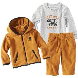 Carhartt Infant 3 Piece Jacket Gift Set - Brown