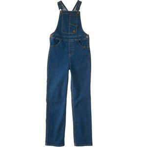 Carhartt Girl's Rugged Overalls - Wash Denim