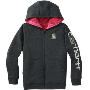 Carhartt Infant Girls' Heathered Fleece Hooded Jacket - Black
