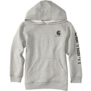 Carhartt Boys Hooded Fleece Sweatshirt - Grey Heather