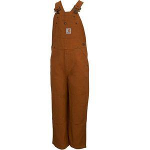 Carhartt Boys' Duck Washed Bib Overalls - Carhartt Brown