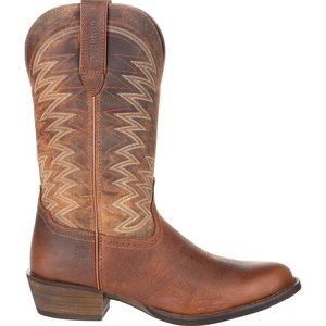 Durango Men's Rebel Frontier R-Toe Cowboy Boots - Distressed Brown
