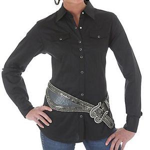 Wrangler Women's Ultimate Riding Long Sleeve Shirt - Black