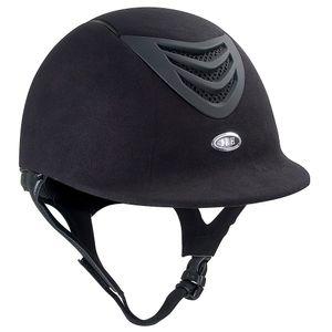 IRH IR4G Riding Helmet - Black Amara Suede w/Matte Vent