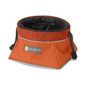 Ruffwear Quencher Cinch Top Dog Bowl - Pumpkin Orange