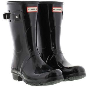 Hunter Short Gloss Boots - Black