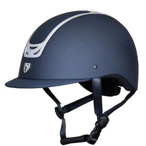 Tipperary Royal Traditional Brim Matte & Chrome Navy Helmet
