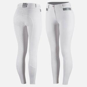 Horze Ladies Sienna Silicone Fullseat Breeches - White