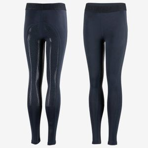 Horze Kids Madison Silicone F/S Tights - Navy