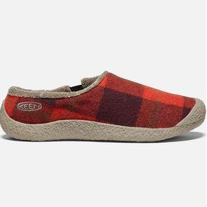 Keen Women's Howser Slides - Red Plaid/Brindle