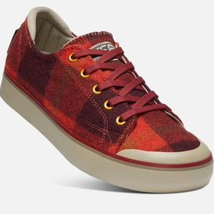 Keen Women's Elsa III Sneakers - Red Plaid/Plaza Taupe