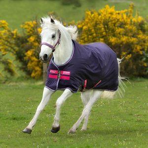 Amigo Hero 900 Pony Rainsheet - Grape/Pink/White/Powder Blue