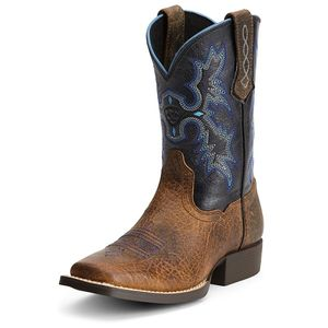 Ariat Kids Tombstone Western Boot - Earth/Black