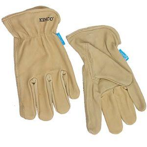 Kinco Men's Hydroflector Water-Resistant Premium Grain Cowhide Driver Gloves