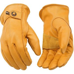 Kinco Men's Premium Cowhide Driver with Pull-Strap Gloves