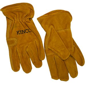 Kinco Men's Suede Cowhide Driver Double Palm Gloves
