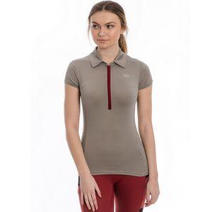 Horseware Ladies Orla Tech Polo Shirt - Silver Cloud