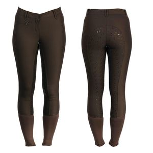 AA Ladies Summer Silicon FS Breeches - Chocolate