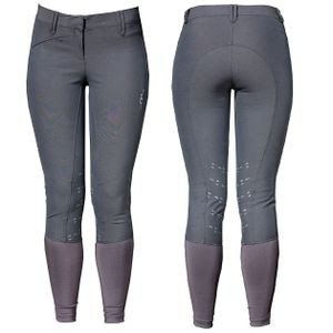 AA Ladies Summer Silicon KP Breeches - Charcoal Grey