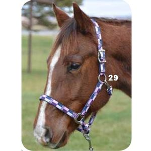 Country Legend Padded Halter - Purple/Grey/Charcoal