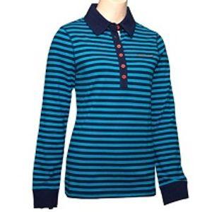 Horseware Ireland Women's Cara Long Sleeve Rugby Polo - Blue Stripe